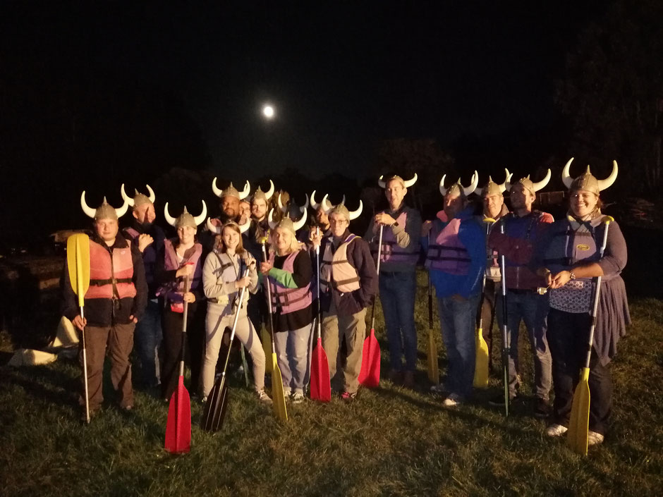 Les vikings d'un soir. Oui, la photo est floue... ;)   © OT du Pays de Valois