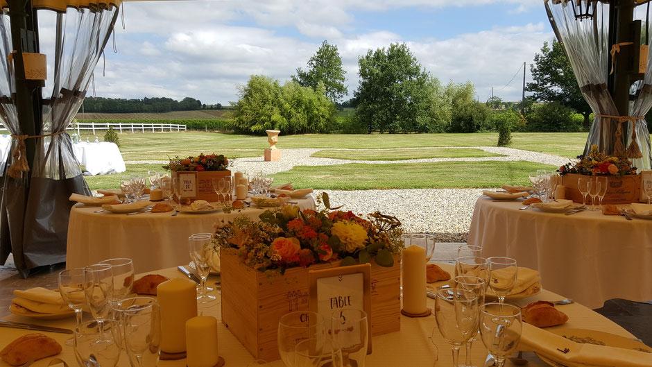Salle de réception du Château la Hitte à Lavardac pouvant recevoir 300 personnes