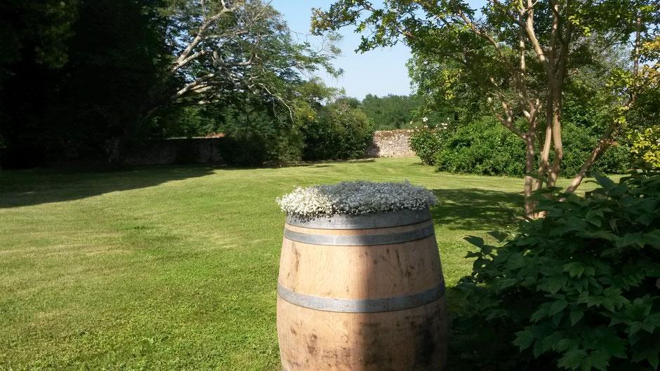Barrique à vin du Château La Hitte à Lavardac en Lot-et-Garonne