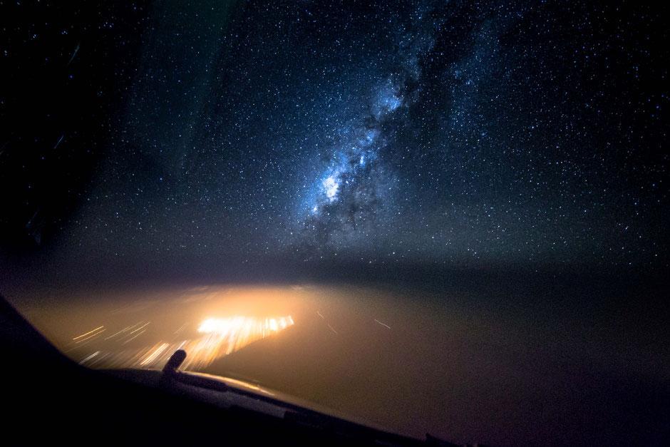 驾驶舱里捕获的银河系 - wuwei1101 - 西花社