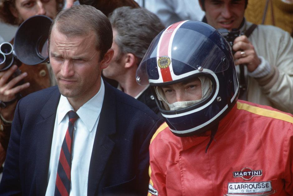 Le Mans 1970: Ferdinand Piëch (links) neben Gérard Larrousse.
