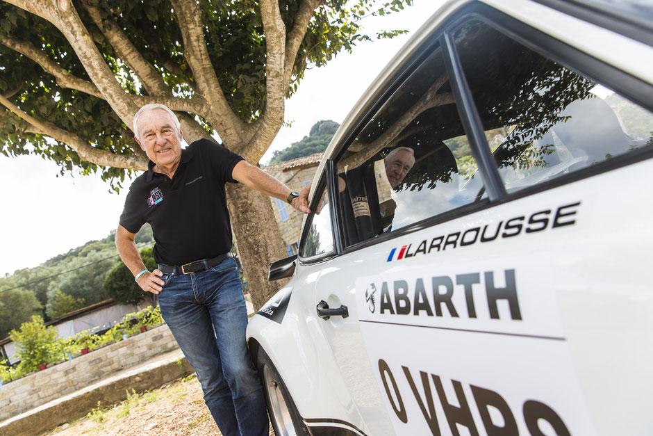 """Gérard Larrousse nahm 2017 für das Porsche Museum an der """"Tour de Corse Historique"""" teil."""