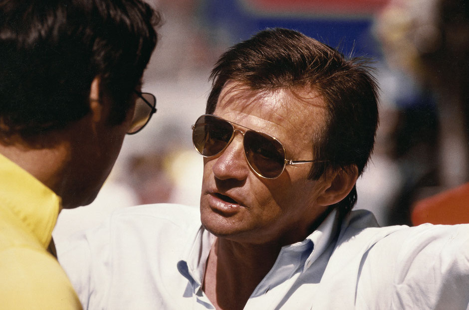 Hans Mezger beim Kyalami Race (Südafrika), 1983