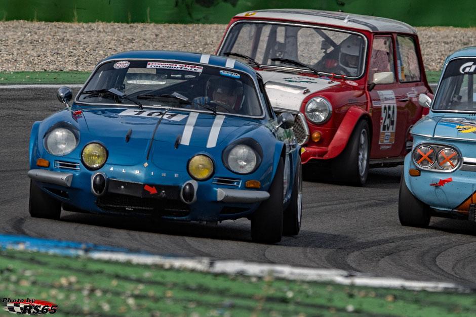 Kampf der Zwerge - Preis der Stadt Stuttgart 2018 - 1300 Histo Cup - Renault AlpineA110 - Frank Fiedler