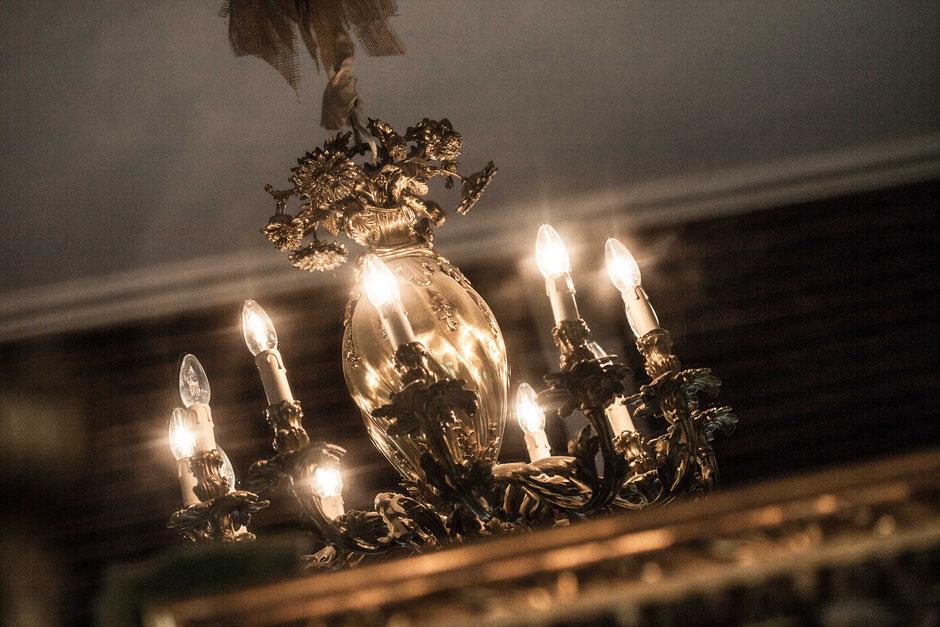 Messing-Leuchter rococo