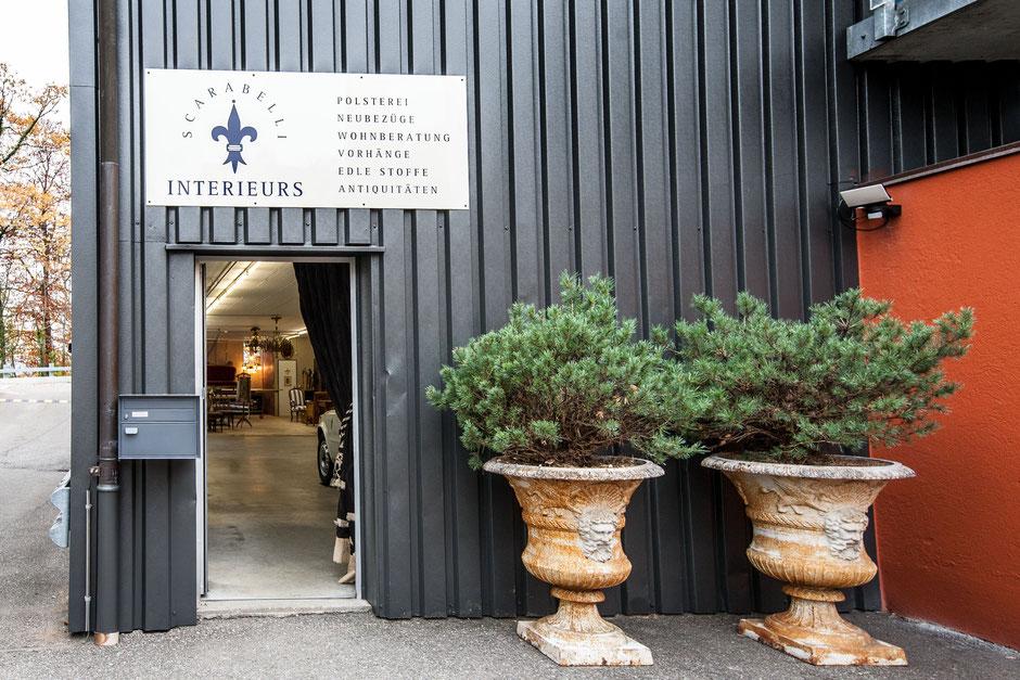 Eingang Polster-Atelier
