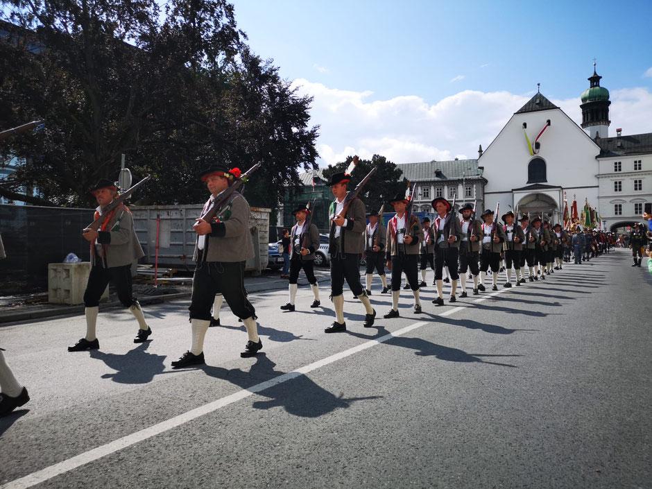 Schützenkompanie Schlaiten als Ehrenkompanie am Hohen Frauentag in Innsbruck 2018