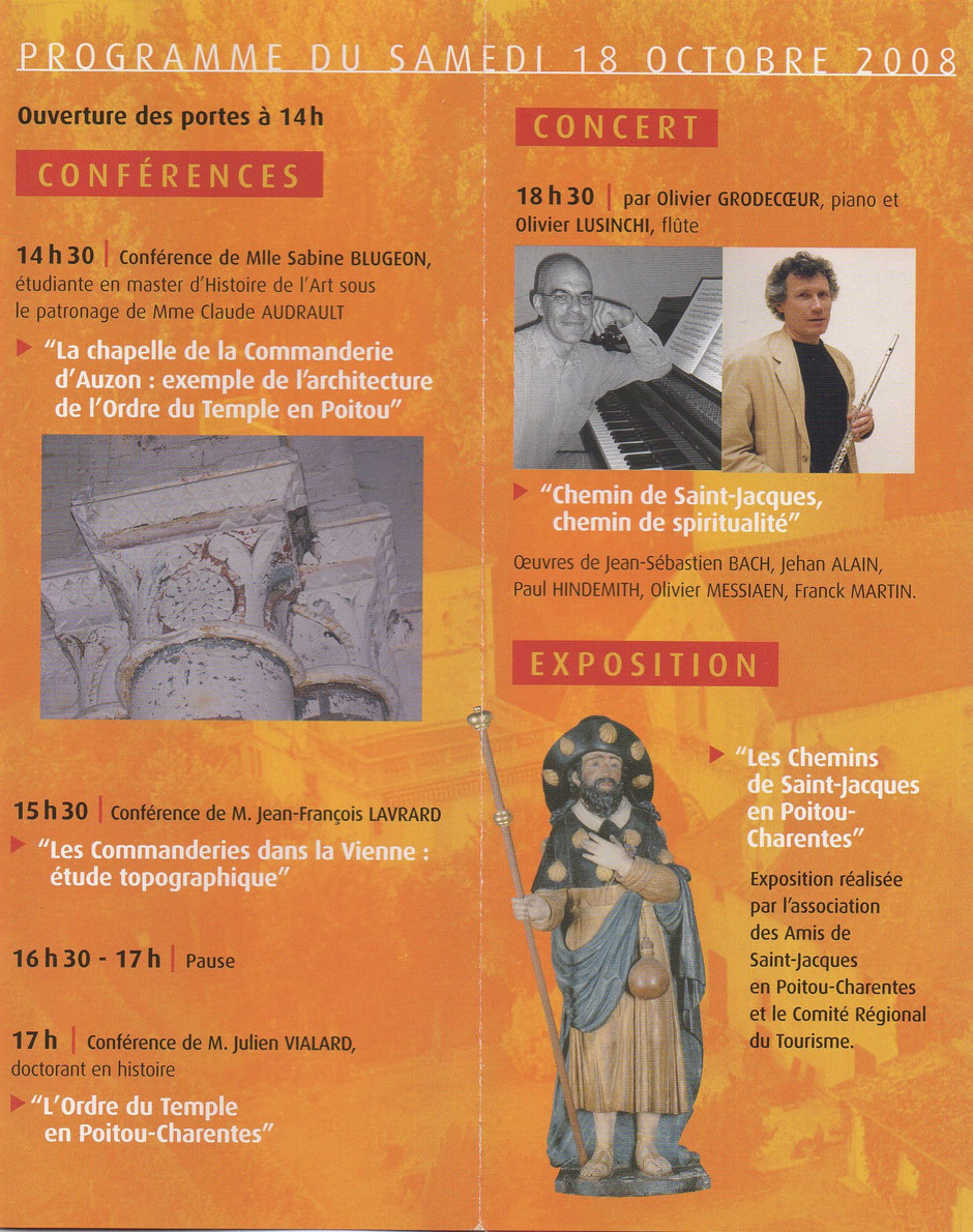 Programme du colloque 2008 de l'association Guillaume de Sonnac