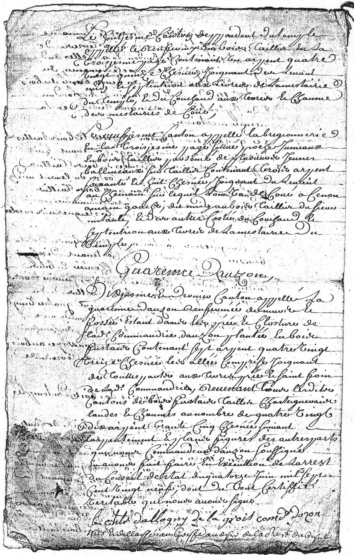 1729 - Plans des bois de la commanderie d'Auzon  - D'Allogny de la Groie Texte 7,8 ,9 et 10