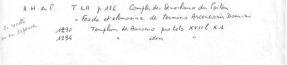 Société des Archives du Poitou - Tome LII Comptes des sénéchaux du Poitou - 1942