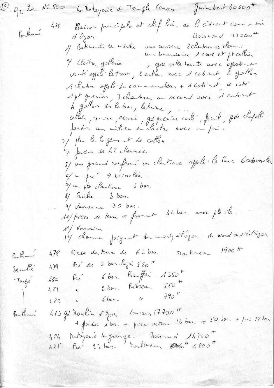 Vente de biens nationaux - Recherche aux Archives de la Vienne - 1793 - 1Q 325