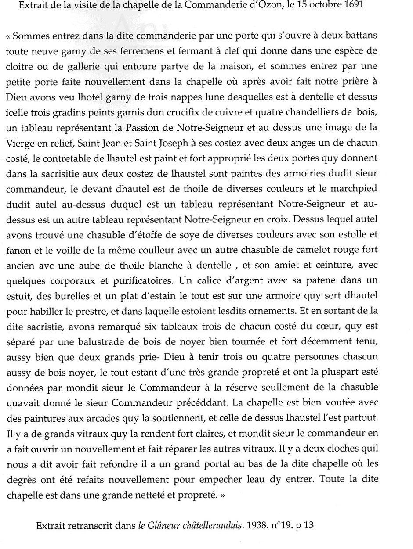 Visite de 1691 extrait du Glaneur Châtelleraudais 1938 n°19 p.13