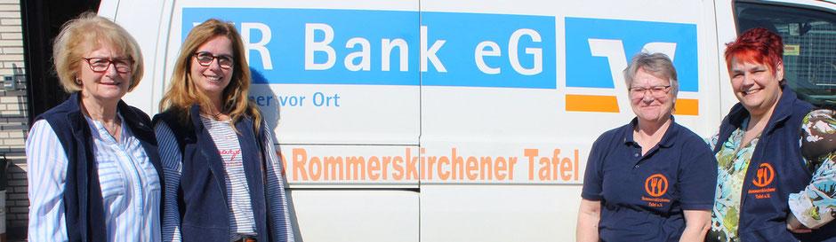 """Anja Hauser, Heike Hendrich, Uschi Heggemann und Michaela Kramer bilden den Vorstand der """"Rommerskirchener Tafel""""."""