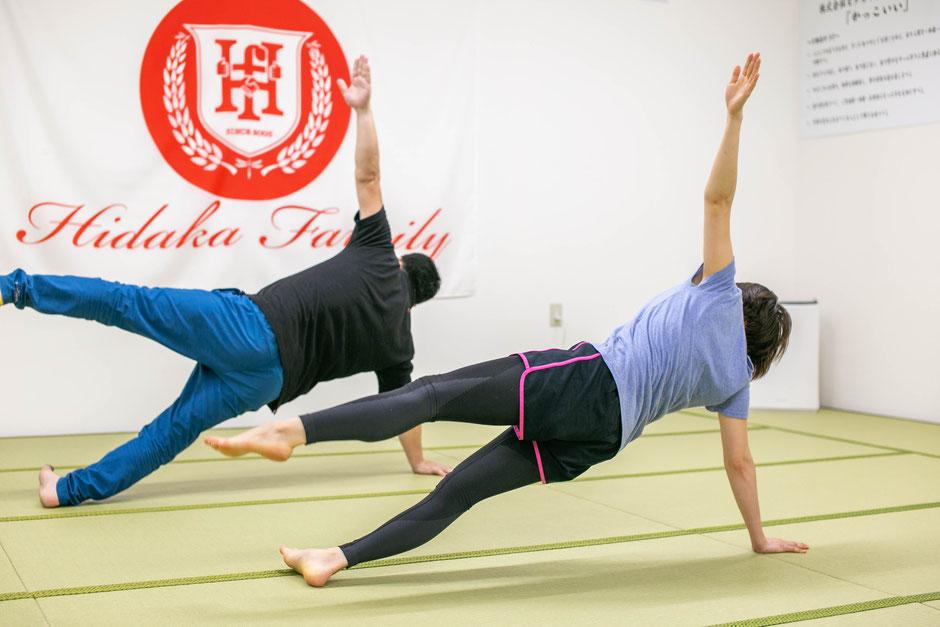 ひだか道場  パーソナルトレーニング 体幹トレーニング 呼吸法 体幹 スポーツ アスリート パフォーマンスアップ 運動能力向上 バランス感覚 平衡感覚 運動神経 ケガ防止 ダイエット