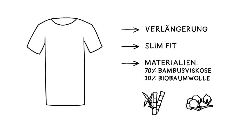 T-Shirt Überlänge