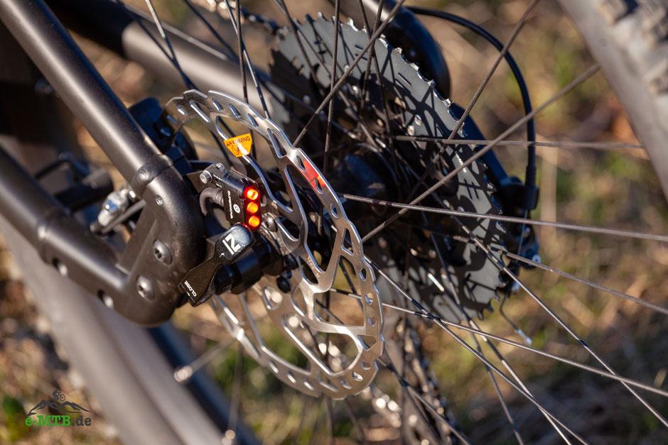 serienmäßiges Licht beim e-Mountainbike