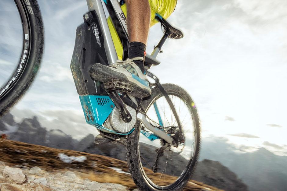 Der TQ e-MTB Motor mit hohen Drehmoments für Spitzenleistungen im Gebirge