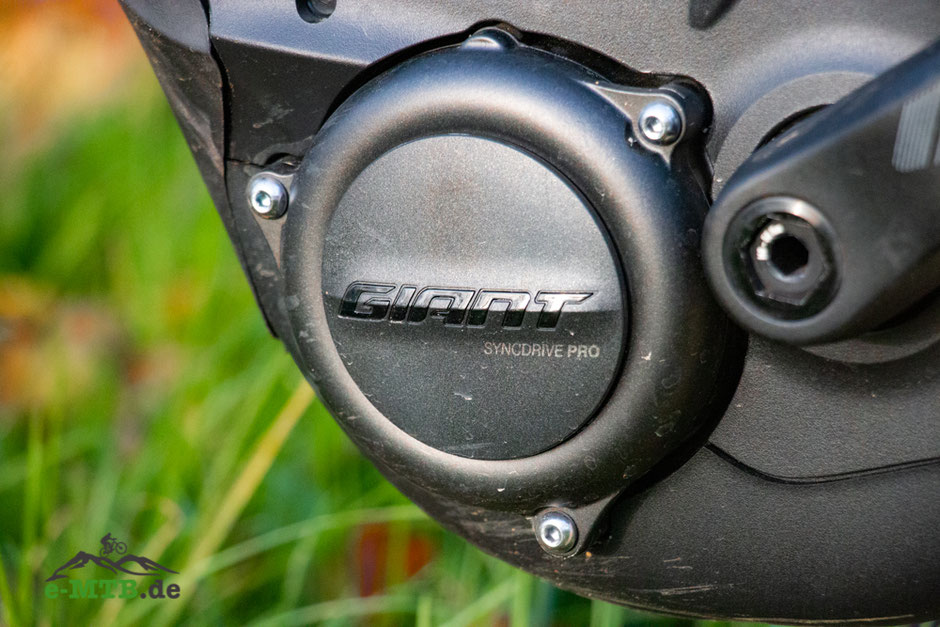 Der SyncDrive Pro Motor in Nahaufnahme am Giant Trance X E+