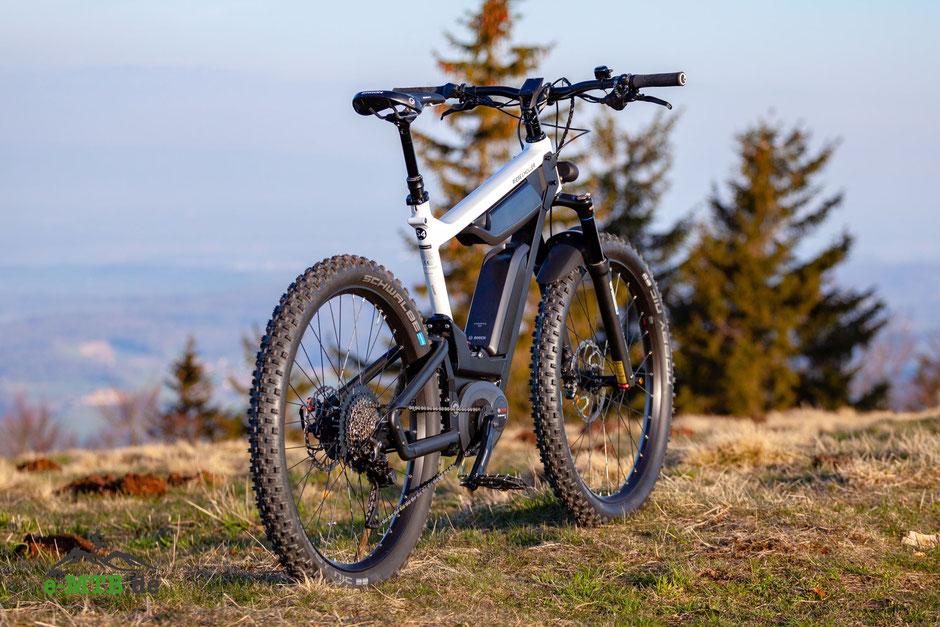 Alltags e-Mountainbike mit riesigem Akku
