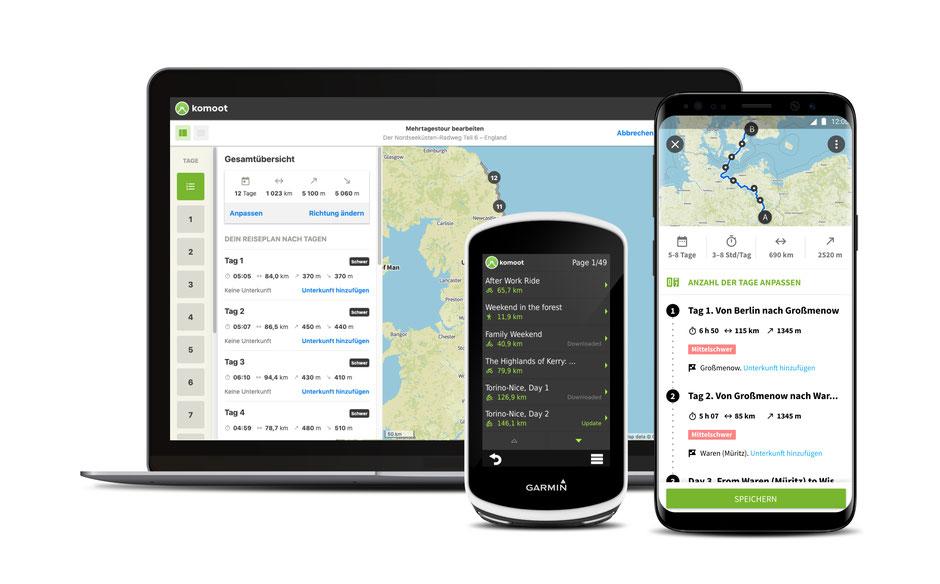 Verbessertes Kartenmaterial in der Komoot Premium App