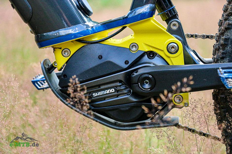 Der Shimano EP8 Motor am Husqvarna HC6
