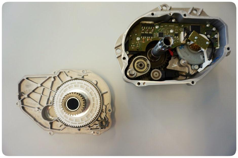 Innenansicht des fertiggestellten Bosch Performance Line Motors