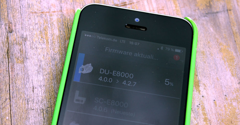 Shimano E-Tube App für die Anpassung des Elektromotors