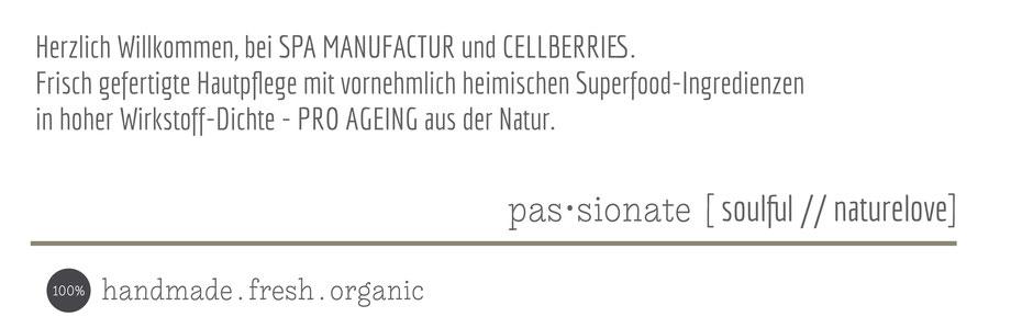 cellberries Hautpflege Gesichtspflege superfood proageing Naturkosmetik
