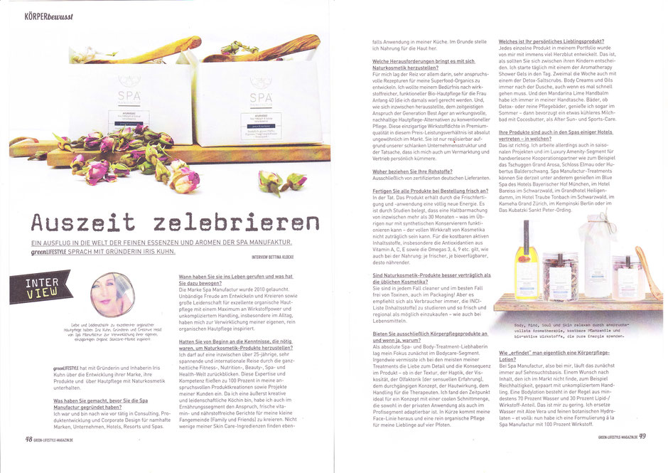 Green Lifestyle Magazin Auszeit zelebrieren Iris Kuhn Interview