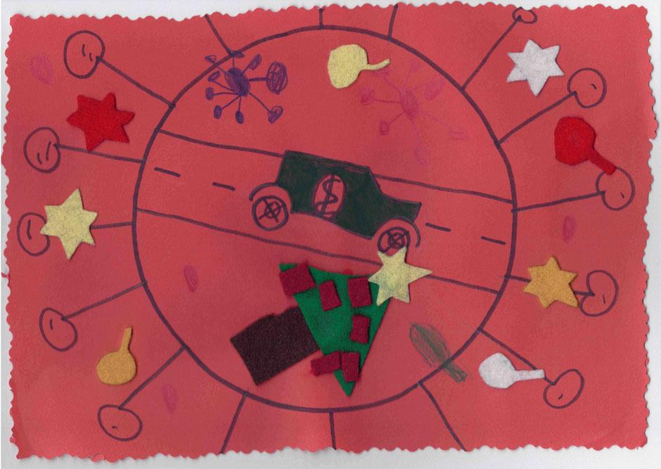 Weihnachtskarte 2020 von Naelia und Luana