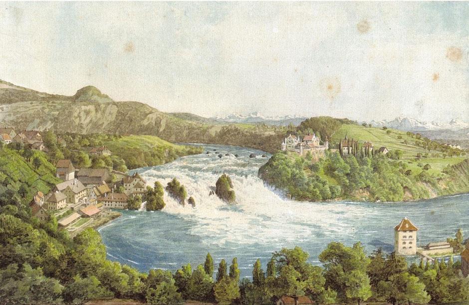 Felix Mendelssohn Bartholdy: Der Rheinfall bei Schaffhausen Hotel Weber d. 27. Juny 1847