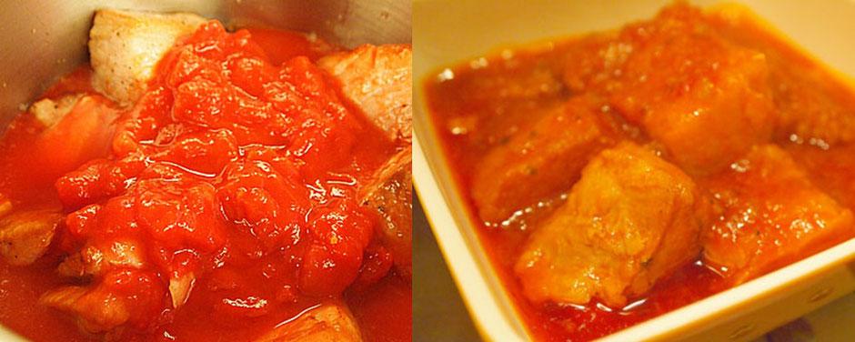 豚肉のホロホロトマトソース煮
