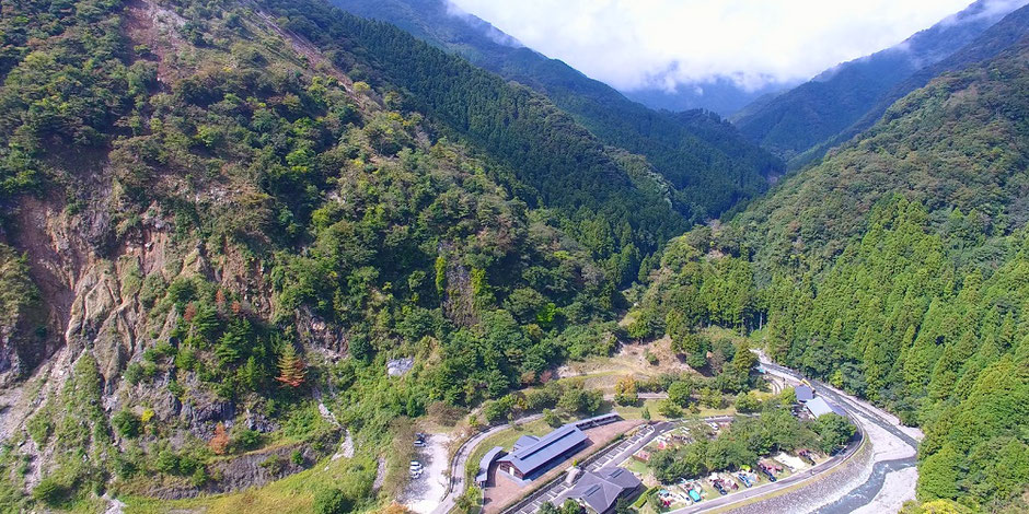 青川峡キャンピングパークドローン空撮