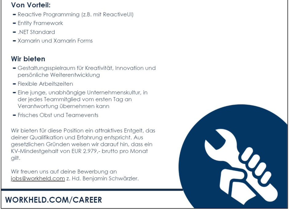 Software Developer Jobs - C#/.NET Mobile Developer - Tablet Solutions - Wien - 1-1-1
