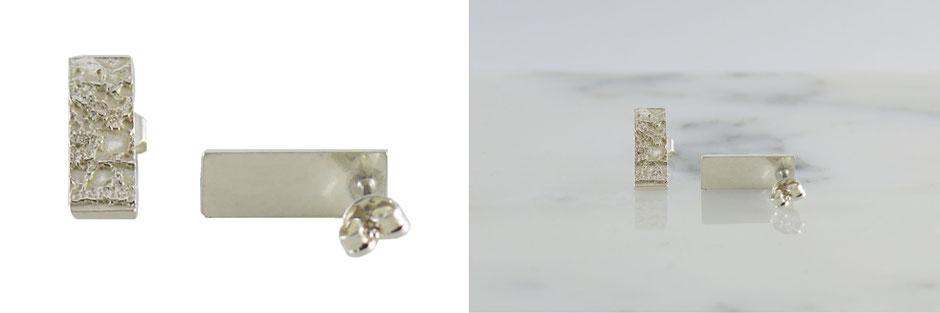 boucles d'oreilles dentelle en argent 925 collection haute couture