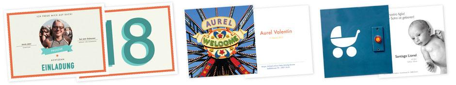 Wir drucken und gestalten Ihre Postkarten, Geburtskarten,  Einladungskarte, Jubiläumskarten etc.
