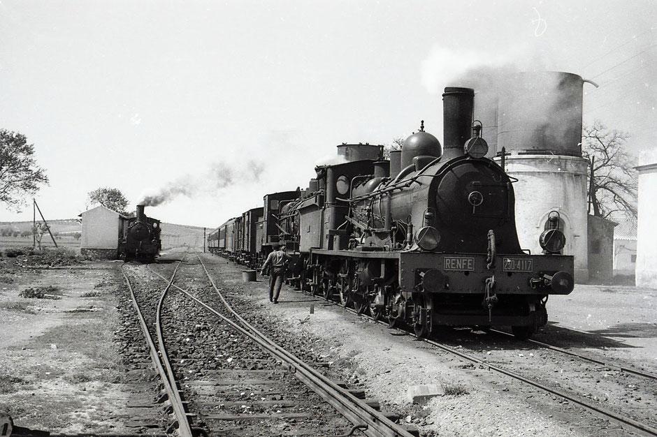 Ferrocarril de la compañía Renfe.