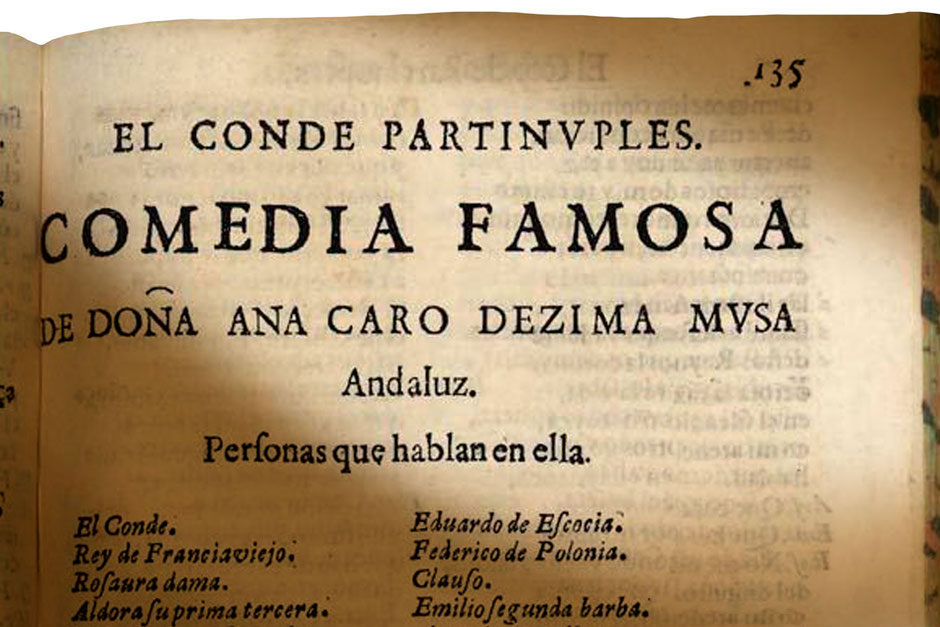 Comedia impresa donde encontramos la firma de la Dezima Mvsa.