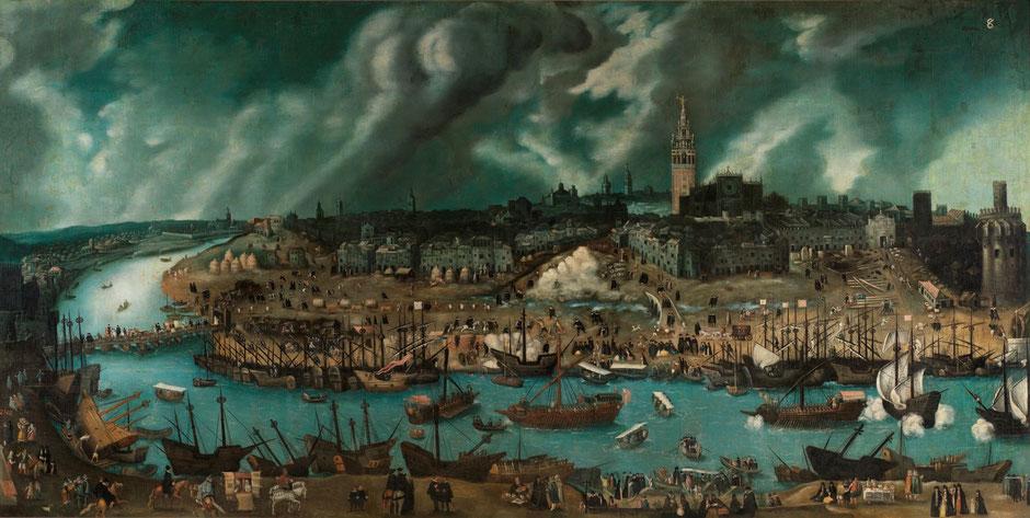 Vista de Sevilla desde el barrio de Triana. Siglo XVI