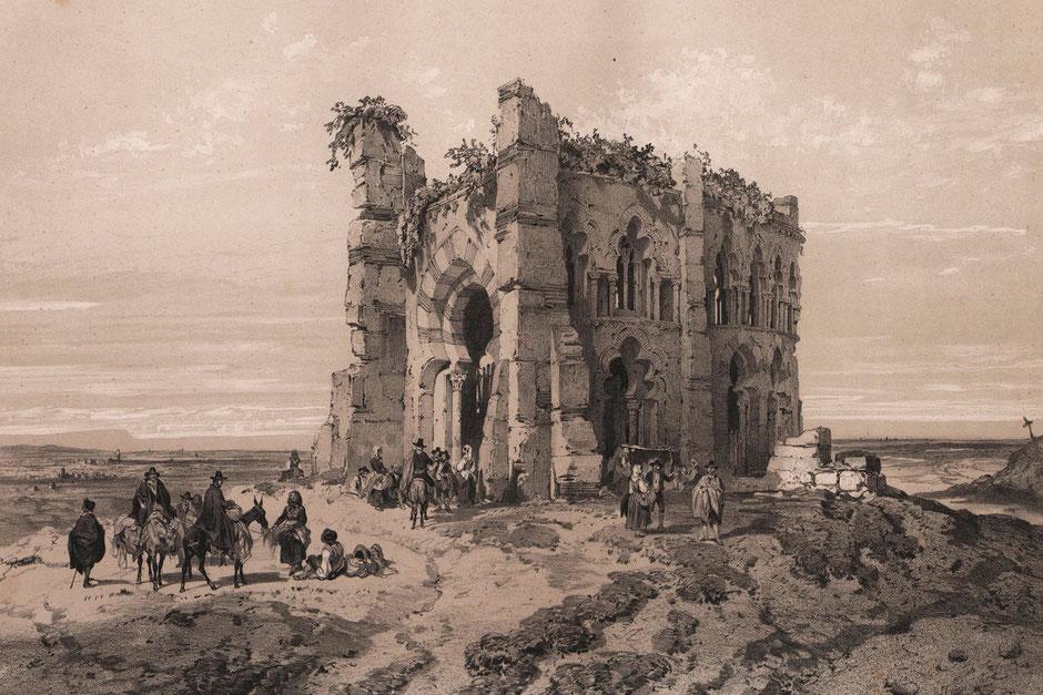 Ruinas de una iglesia en los alrededores de Madrid, s.XIX. Actualmente está completamente desaparecida.