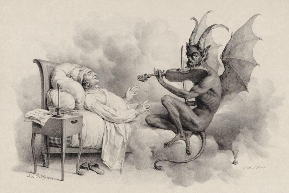El sueño de Tartini de Louis-Léopold Boilly (1824)