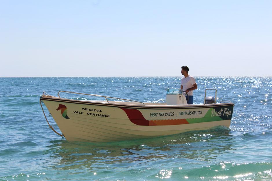 Boat Trip Praia de Vale de Centianes,Algarve,Portugal wunderbar für Familien,Hochzeiten und Delfine sehen