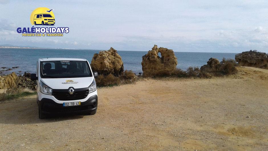 Galé Holidays Transfer in Galé,Albufeira,Algarve,Portugal geeignet für Familien oder auch Privat,vom Flughafen zum Hotel oder Umgekehrt.