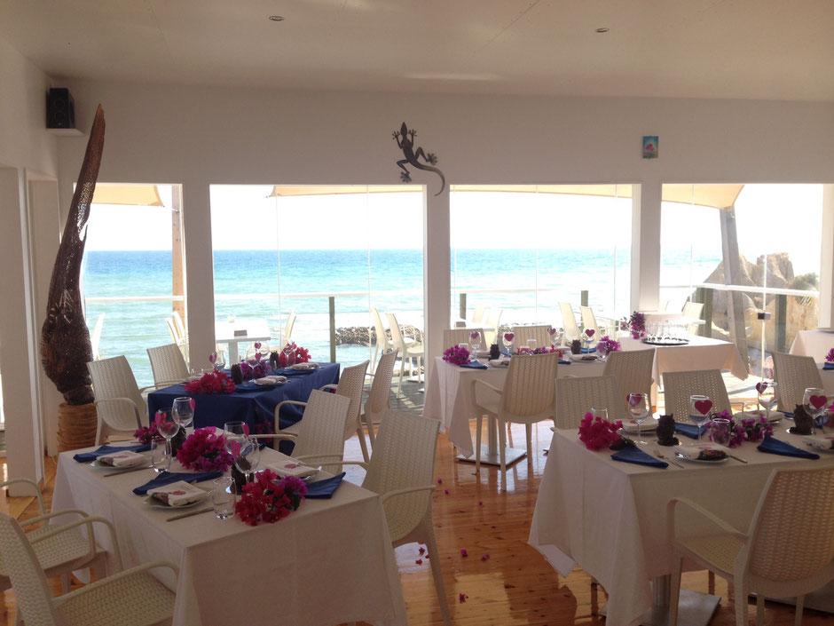 Restaurante Praia do Lourenço,Guia,Albufeira,Algarve,Portugal geeignet für Feste,Hochzeiten sowie auch Romantische Essen