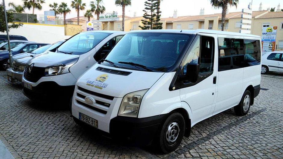 Galé Holidays Transfers in Galé,Albufeira,Algarve,Portugal geeignet für gross Familien vom Flughafen zum Hotel oder Umgekehrt.