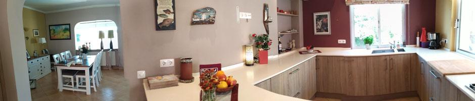 Vila Madrugada an der Algarve in Carvoeiro,Lagoa,Portugal geeignet für Familien oder Romantik im Haus,mit Küche zum Kochen