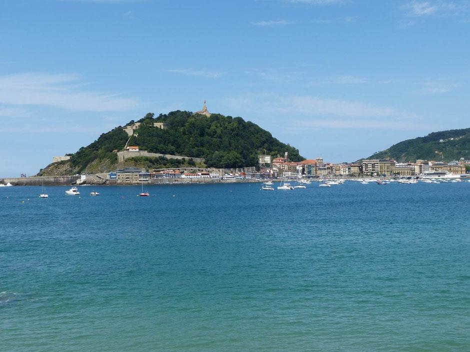 Ein Teil der Bucht von San Sebastian