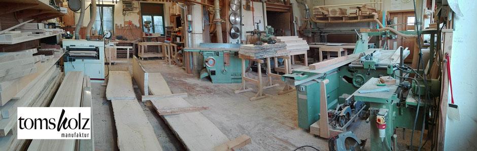 tomsholz manufaktur, Blick in die Werkstatt
