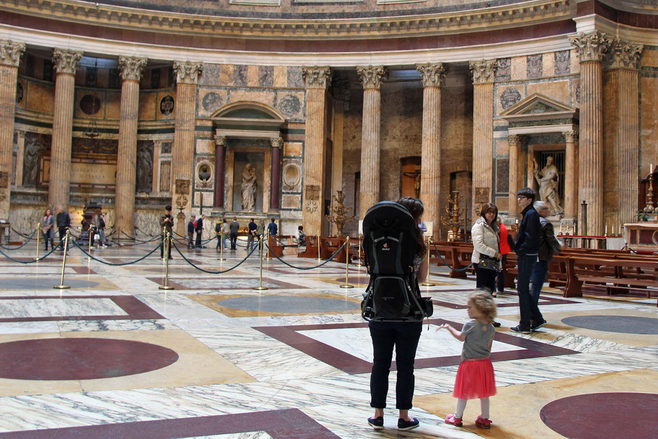 Rome Italy Pantheon with small children
