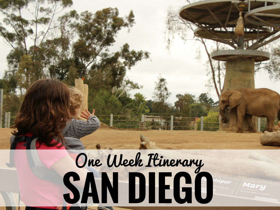 A one week itinerary for a family holiday to San Diego. Whether you are traveling with a baby, a toddler or older children this itinerary will ensure you get the most out of your family vacation to San Diego, California. www.BabyCanTravel.com/blog